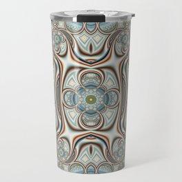 Playful circles pattern with dandelions Travel Mug