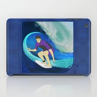 surfing iPad Cases featuring Surfing  by Aquamarine Studio