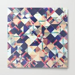 Geometric Grunge Pattern Metal Print