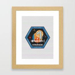 Kronos 1 Official Mission Emblem Framed Art Print