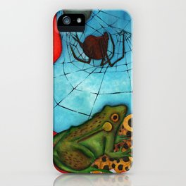 Summer Pond Frogs iPhone Case