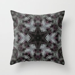 Dot Fourier Mandala 2 Throw Pillow