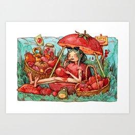 Tomato Overload Art Print