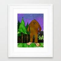 sasquatch Framed Art Prints featuring Sasquatch by Michael Scott Murphy