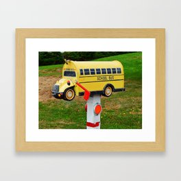 School Bus Mailbox Framed Art Print