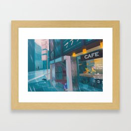 Celadon Café - Kanto in real life Framed Art Print