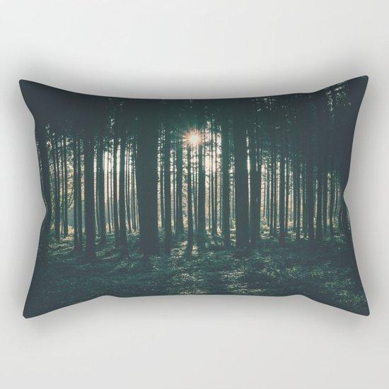 Sun through the Woods Rectangular Pillow