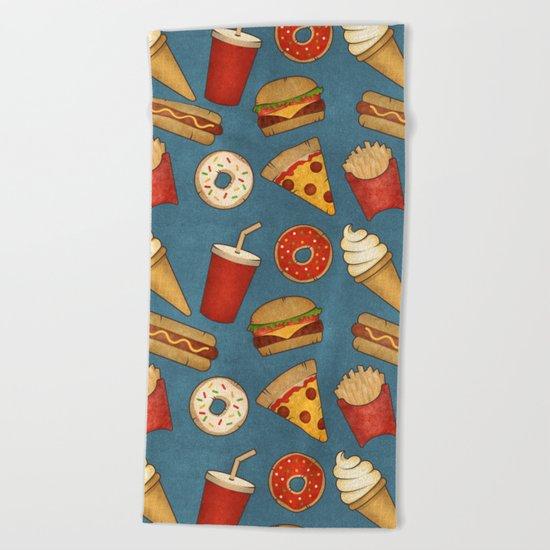 Fast Food Beach Towel