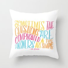 SIMPLE ANSWERS Throw Pillow