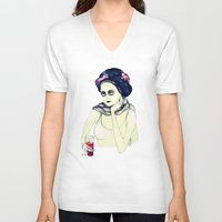 cosmos V-neck T-shirts featuring Cosmos  by Ia Re