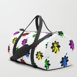 Multi coloured flower bouquet Duffle Bag