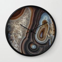 Mocha swirl Agate Wall Clock