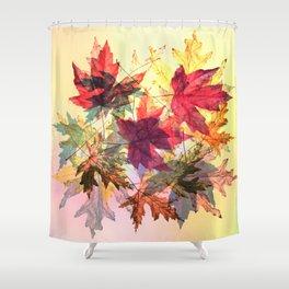fallen leaves III Shower Curtain