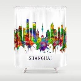 Shanghai China Skyline Shower Curtain