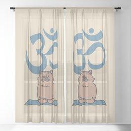 Om Persian Cat Sheer Curtain
