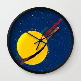 #033 Rocket to the moon!!! Wall Clock