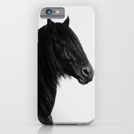 Black beauty Friesian stallion iPhone Case