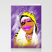muppet Stationery Cards featuring Janice Muppet Parody by Gilles Rathé
