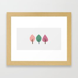 Easter trees Framed Art Print