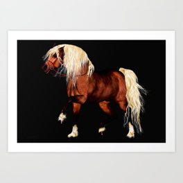 HORSE - Black Forest Art Print