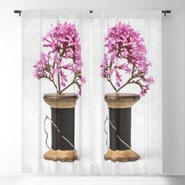 Wooden Vase Blackout Curtain
