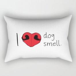 I Love Dog Smell Rectangular Pillow