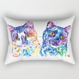 2 Kitties Hanging Out Rectangular Pillow