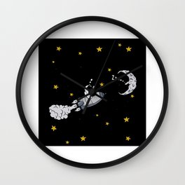 Astronaut On The Way To The Moon Gift Motif Wall Clock