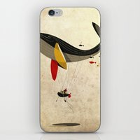 fly iPhone & iPod Skins featuring I believe i can fly by Riccardo Guasco