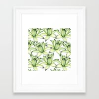 succulents Framed Art Prints featuring Succulents by Julia Badeeva