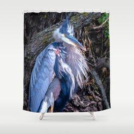 Dapper Heron Shower Curtain