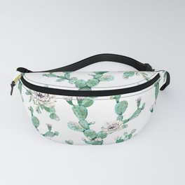 Cactus Rose Climb on White Fanny Pack