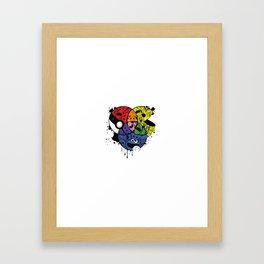 Home Skool Kolor Chart Framed Art Print