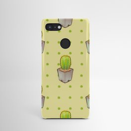Small green cactus Android Case