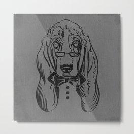 Bassett Bow Tie Metal Print
