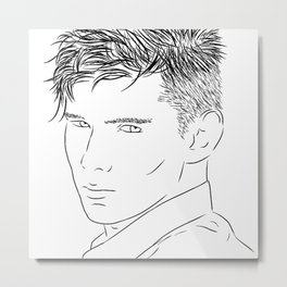 I Draw Guys: Adrian Metal Print