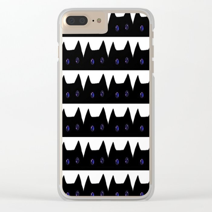 cat-169 Clear iPhone Case