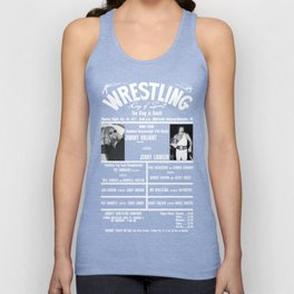 #4-B Memphis Wrestling Window Card Unisex Tank Top
