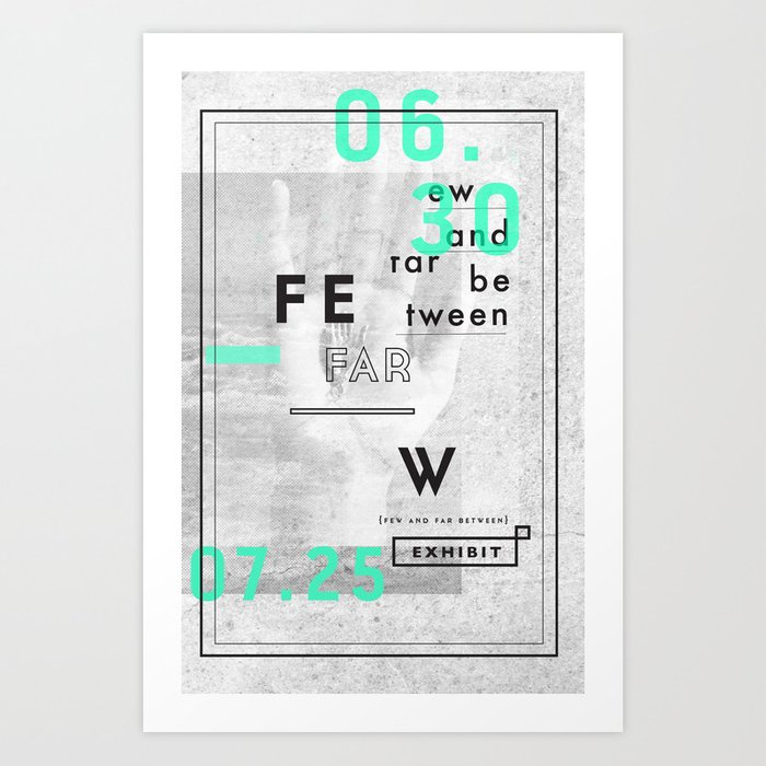 Few And Far Between Art Print