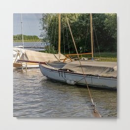 Boats on the Broad Metal Print