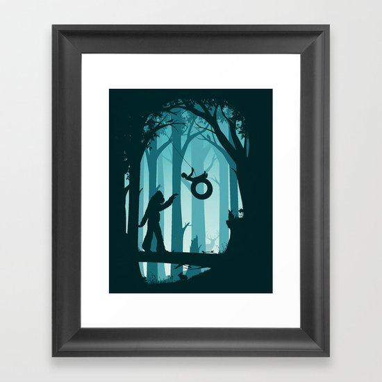 Sasquatch & Me Framed Art Print