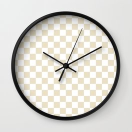 Small Checkered - White and Pearl Brown Wall Clock