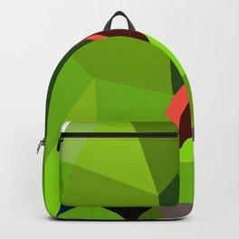 Eclectus parrot Geometric bird art Backpack