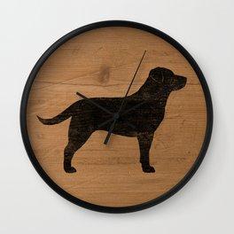 Black Labrador Retriever Silhouette Wall Clock