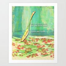 Solitary Crane Art Print