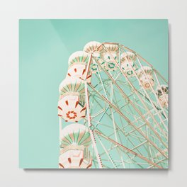 Blue and Red Ferris Wheel  Metal Print