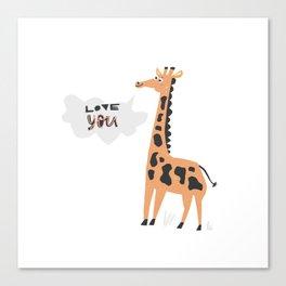 Love Giraffe Canvas Print