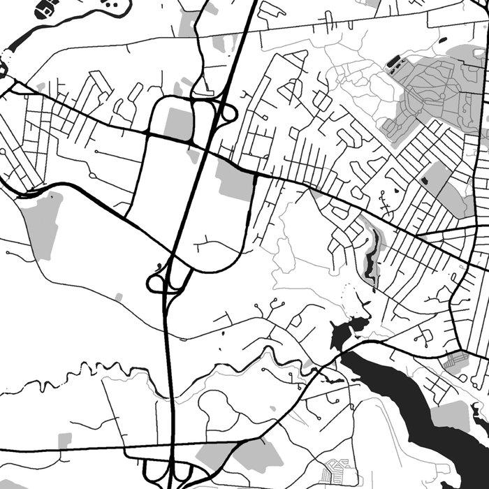 Portland Maine Map Gray Leggings