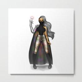 Dark and Radiant Futuristic Eleganza Metal Print