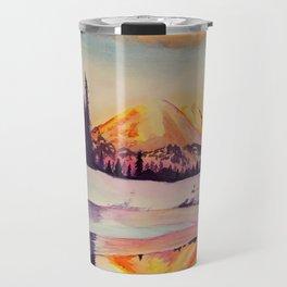 Winter Wonderland in Mount Rainer Travel Mug